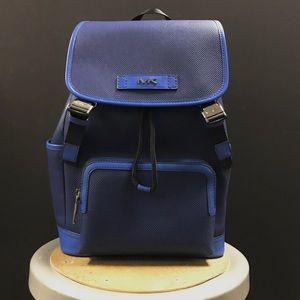 Michael Kors MK men's leather backpack.